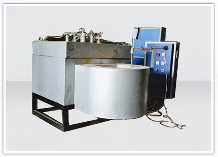 Aluminium Holding Furnace With Cast Crucible